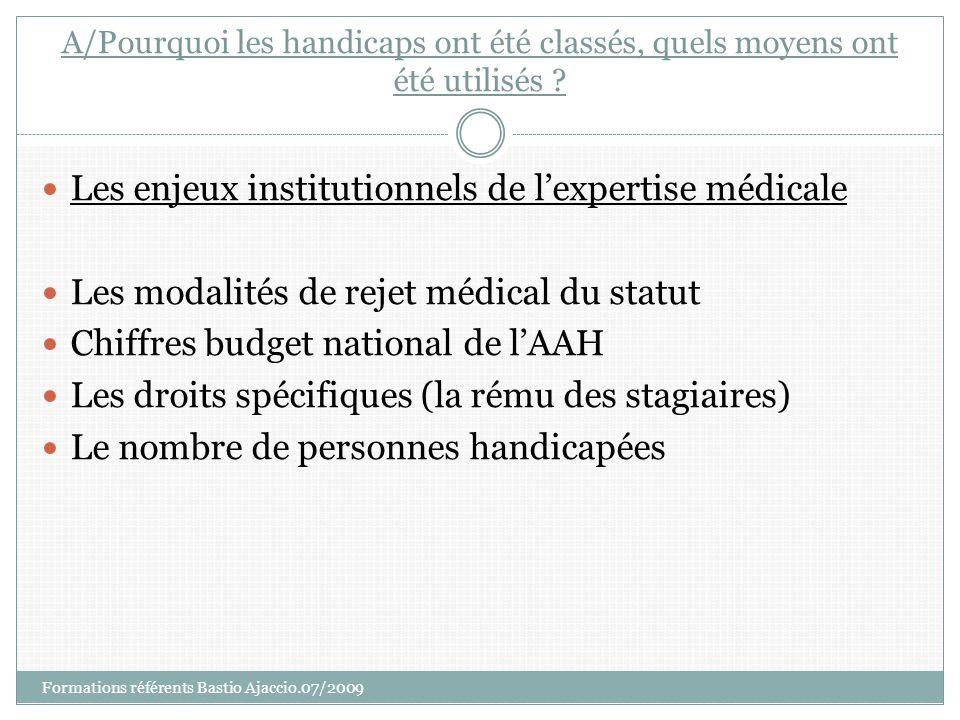 Les enjeux institutionnels de l'expertise médicale