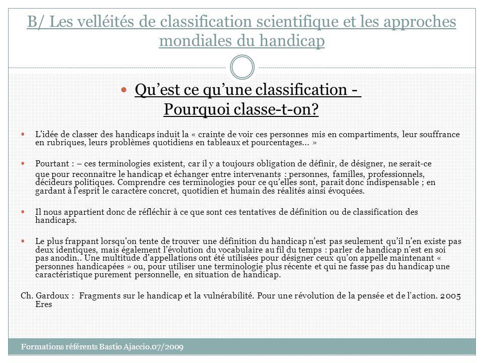 Qu'est ce qu'une classification -