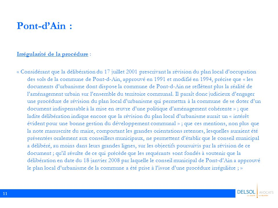 Pont-d'Ain : Irrégularité de la procédure :