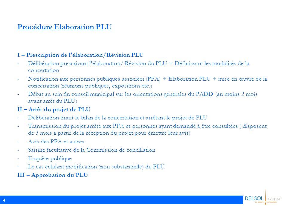 Procédure Elaboration PLU