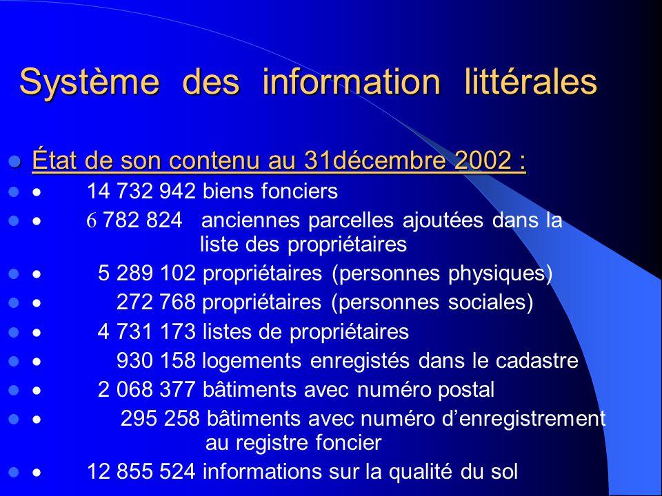 Système des information littérales