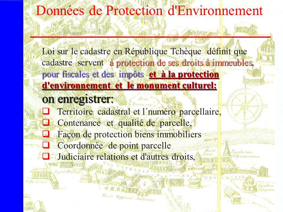Données de Protection d Environnement