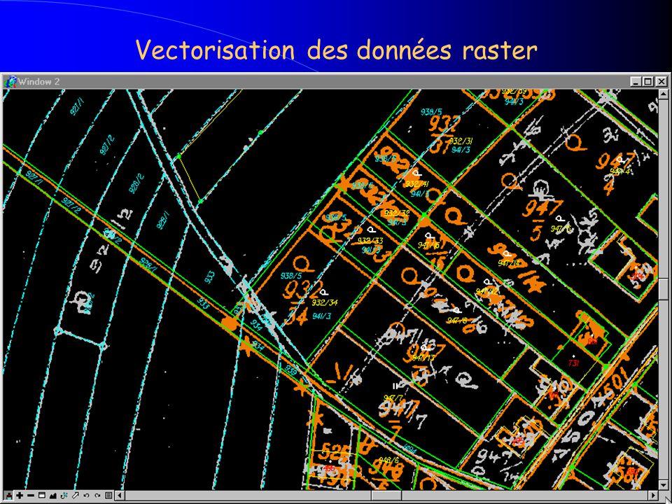 Vectorisation des données raster