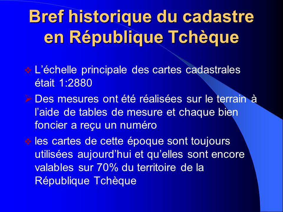 Bref historique du cadastre en République Tchèque