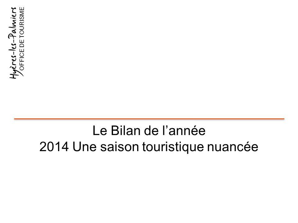 2014 Une saison touristique nuancée