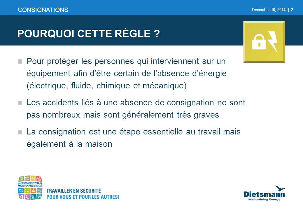 CONSIGNATIONS POURQUOI CETTE RÈGLE