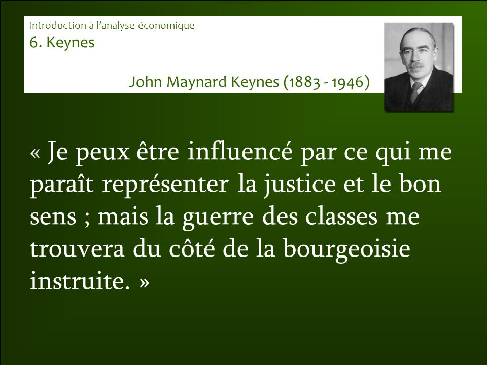 John Maynard Keynes (1883 - 1946)
