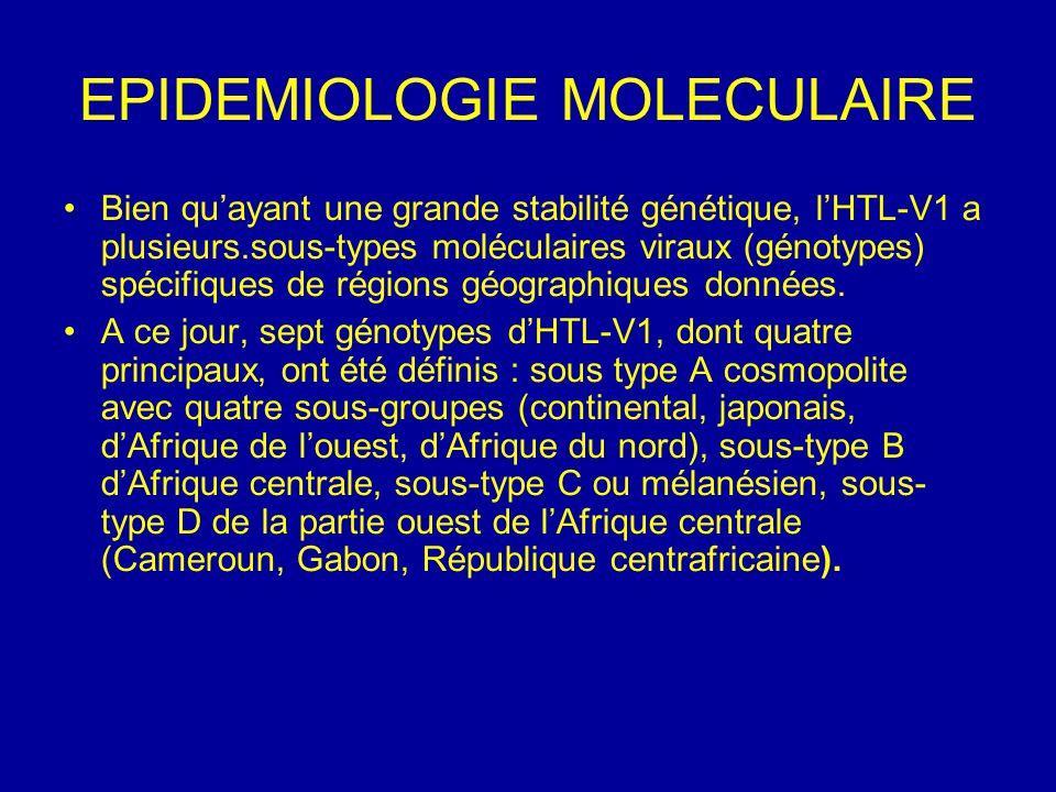 EPIDEMIOLOGIE MOLECULAIRE