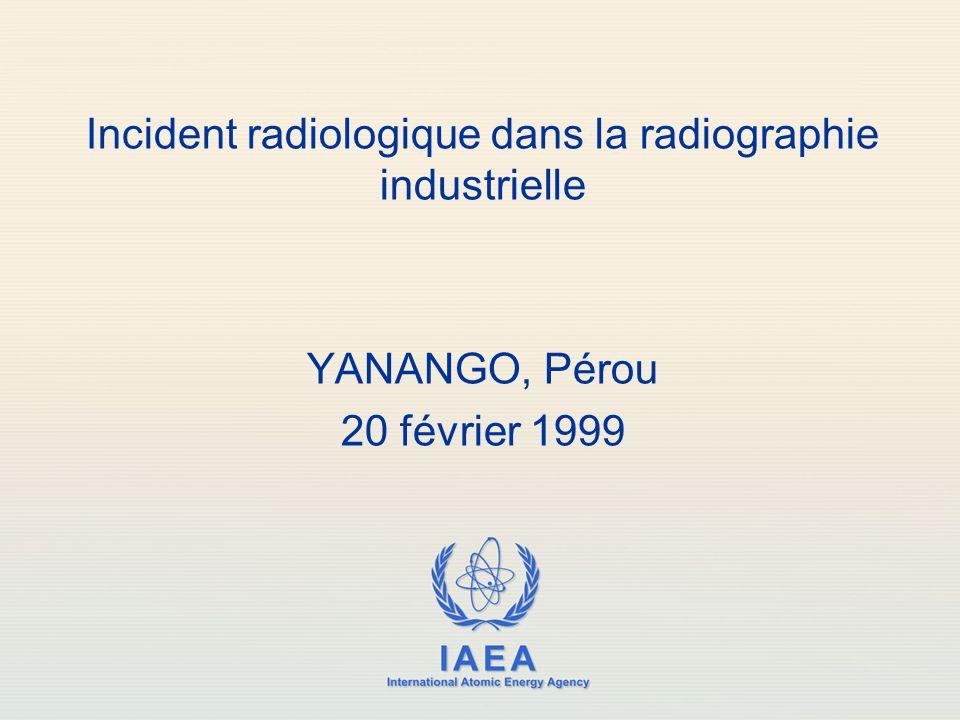 Incident radiologique dans la radiographie industrielle