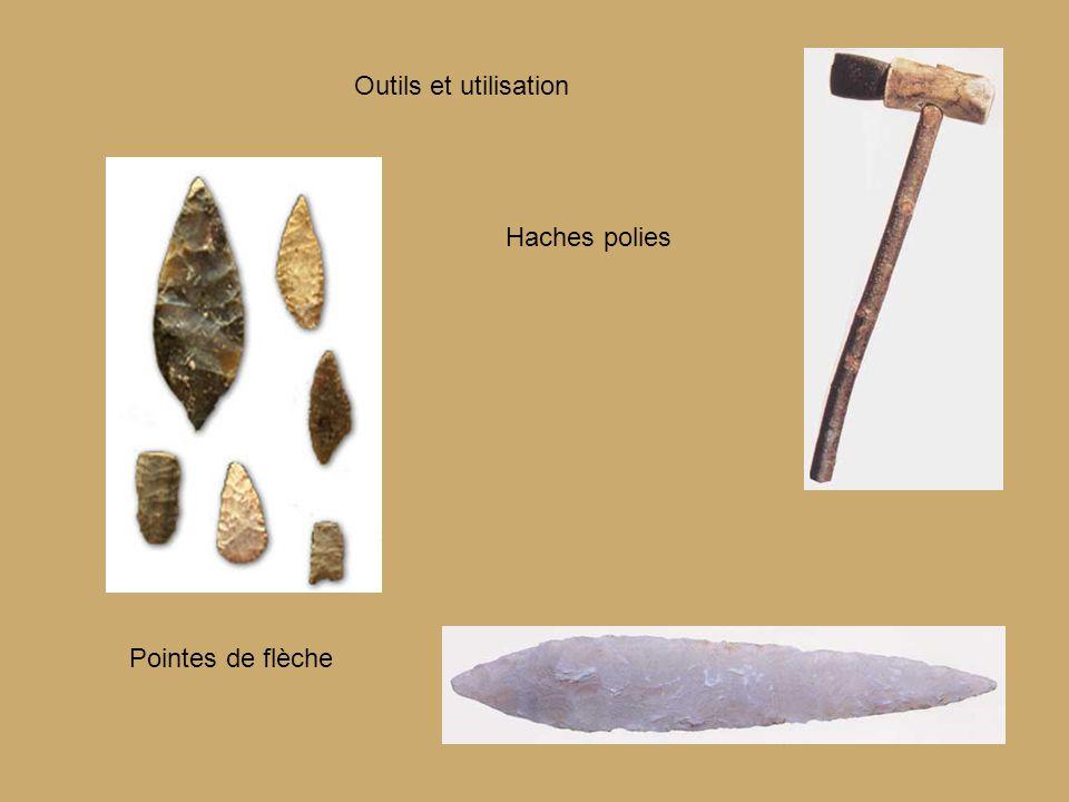 Outils et utilisation Haches polies Pointes de flèche