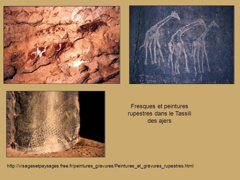Fresques et peintures rupestres dans le Tassili des ajers
