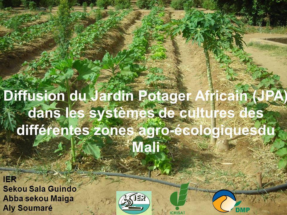 Diffusion du Jardin Potager Africain (JPA) dans les systèmes de cultures des différentes zones agro-écologiquesdu Mali