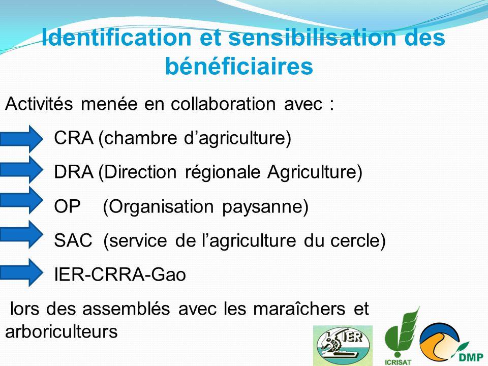 Identification et sensibilisation des bénéficiaires