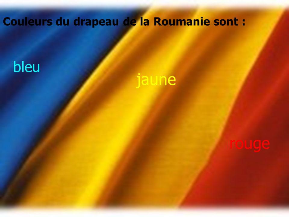 Couleurs du drapeau de la Roumanie sont :