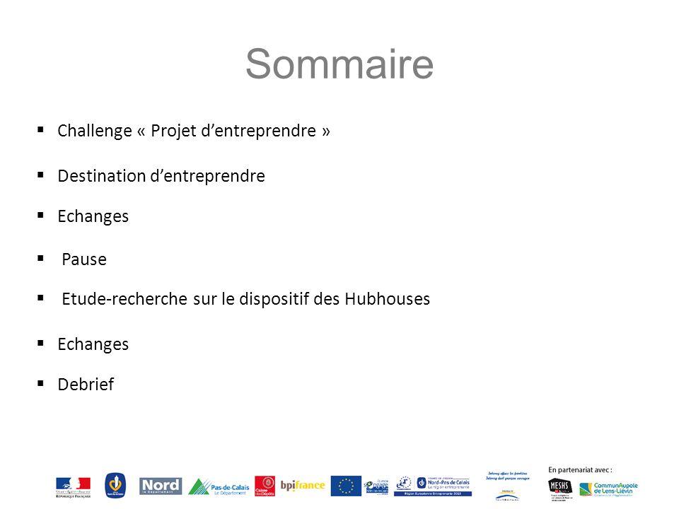 Sommaire Challenge « Projet d'entreprendre »
