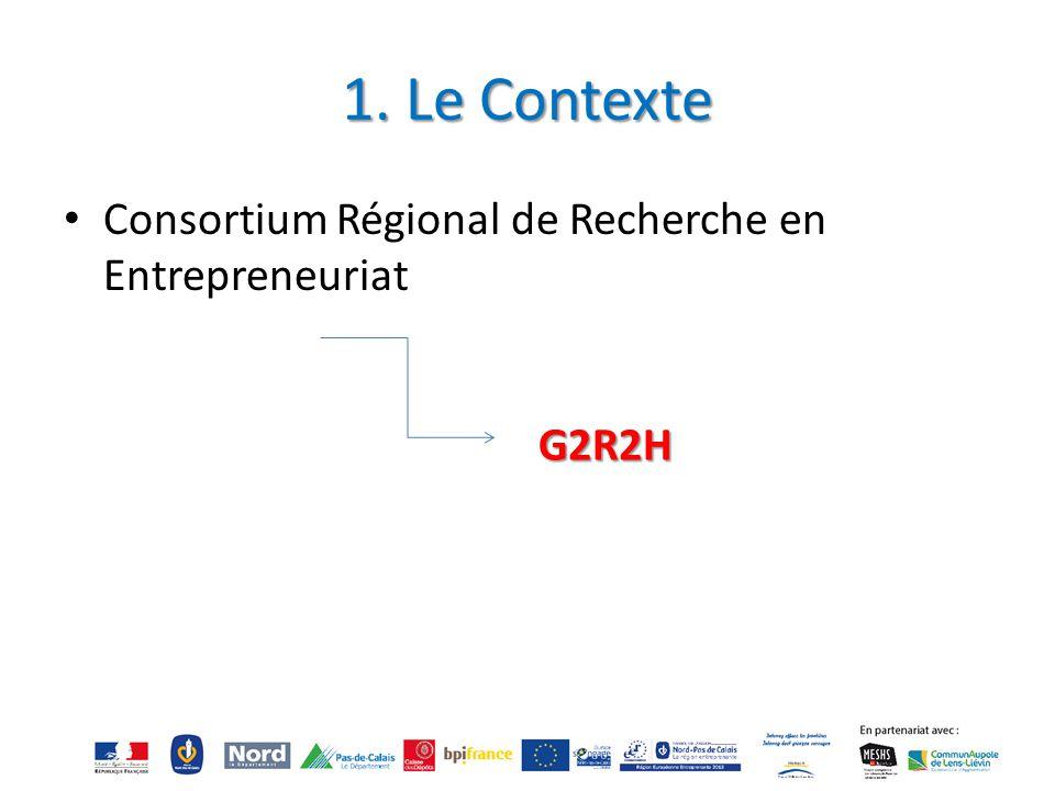 1. Le Contexte Consortium Régional de Recherche en Entrepreneuriat
