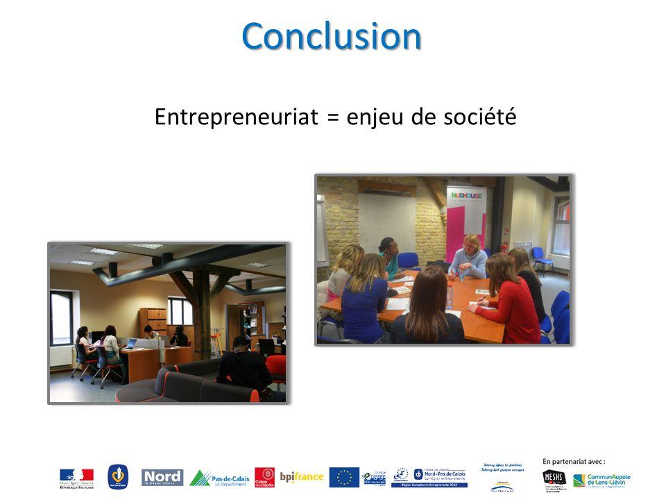 Entrepreneuriat = enjeu de société