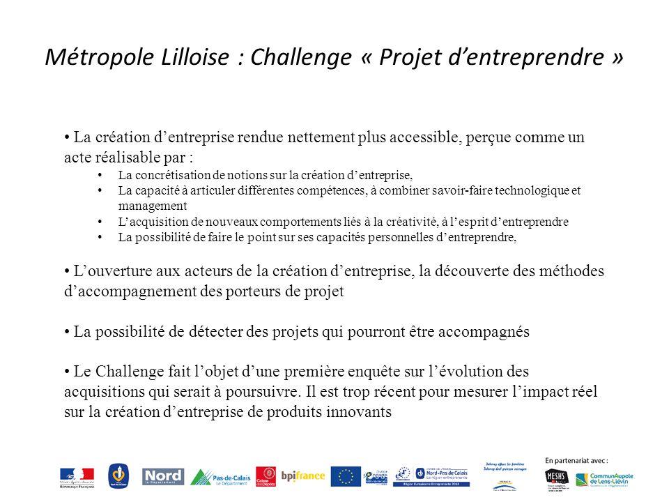 Métropole Lilloise : Challenge « Projet d'entreprendre »