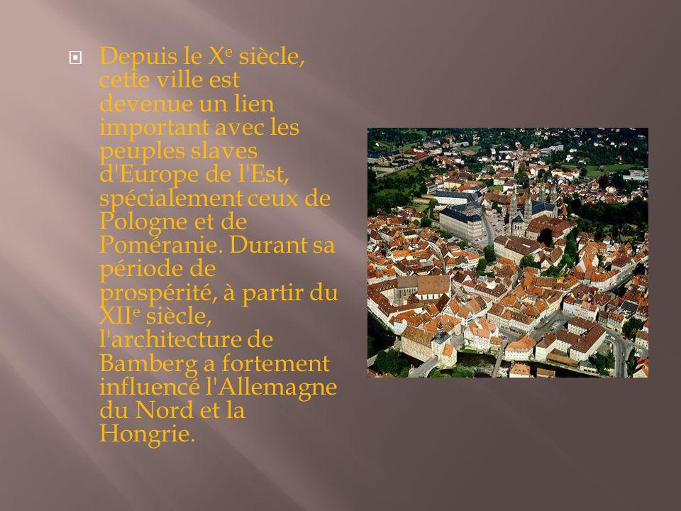 Depuis le Xe siècle, cette ville est devenue un lien important avec les peuples slaves d Europe de l Est, spécialement ceux de Pologne et de Poméranie.