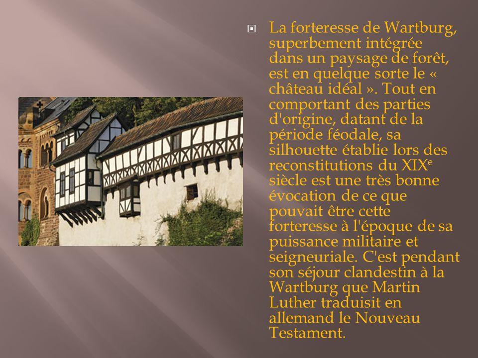 La forteresse de Wartburg, superbement intégrée dans un paysage de forêt, est en quelque sorte le « château idéal ».
