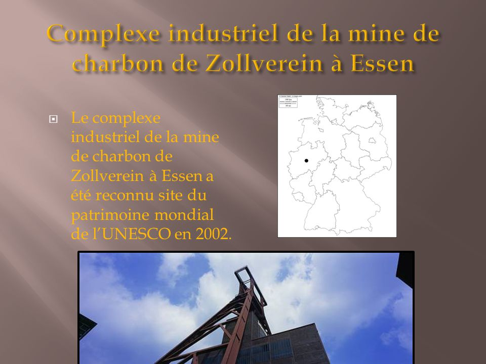 Complexe industriel de la mine de charbon de Zollverein à Essen
