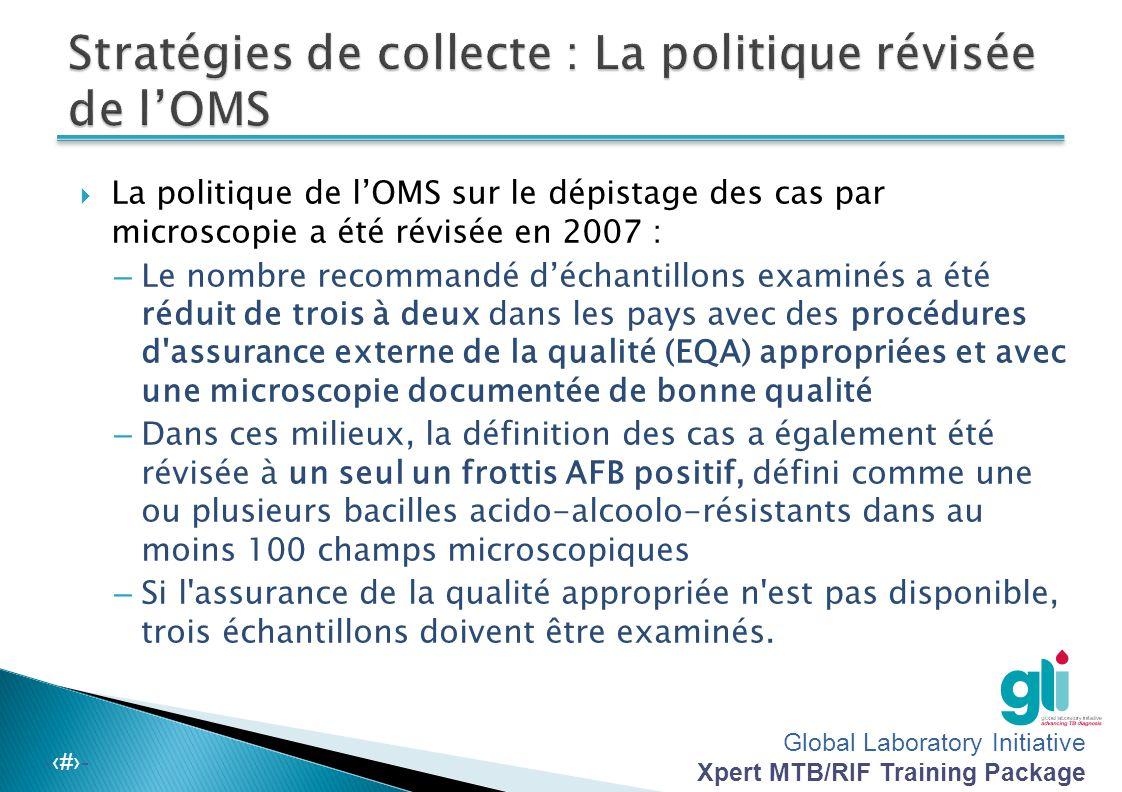 Stratégies de collecte : La politique révisée de l'OMS