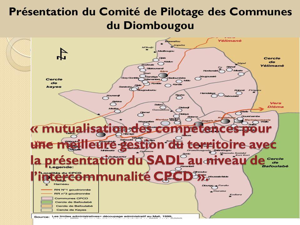 Présentation du Comité de Pilotage des Communes du Diombougou