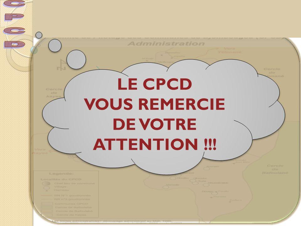 VOUS REMERCIE DE VOTRE ATTENTION !!!