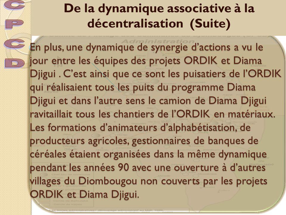 De la dynamique associative à la décentralisation (Suite)