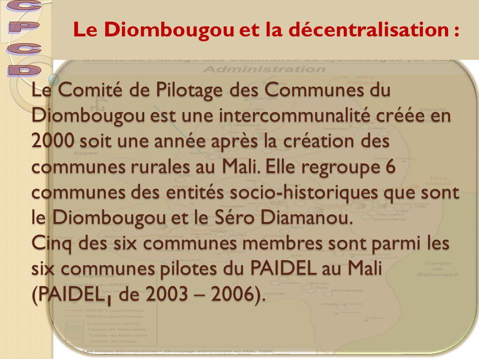 Le Diombougou et la décentralisation :
