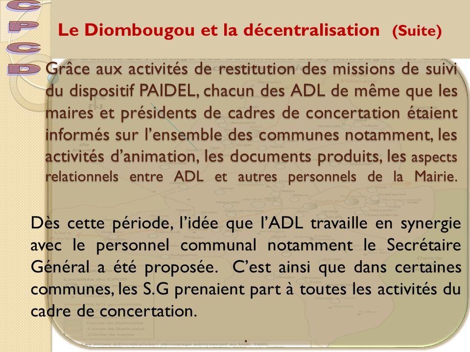 Le Diombougou et la décentralisation (Suite)