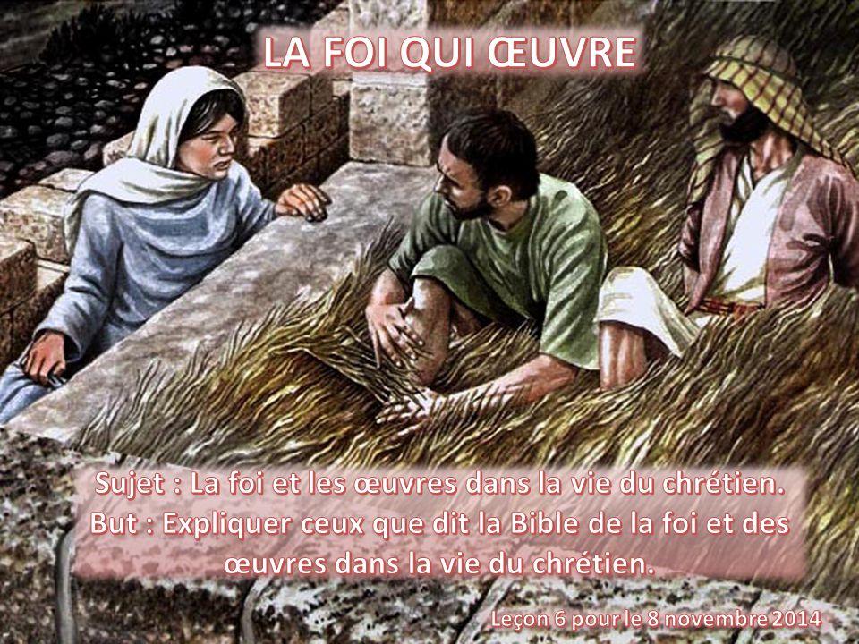 Sujet : La foi et les œuvres dans la vie du chrétien.