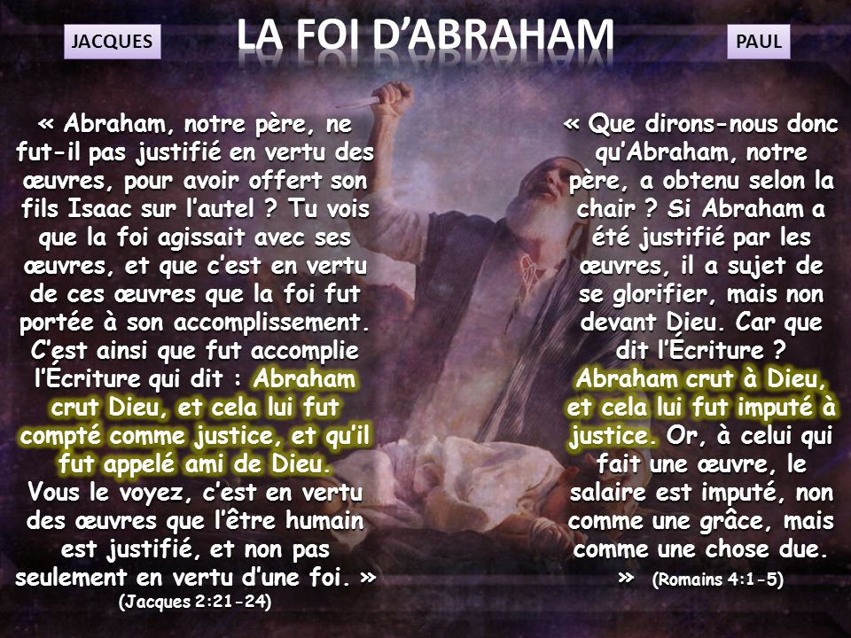 LA FOI D'ABRAHAM JACQUES. PAUL.