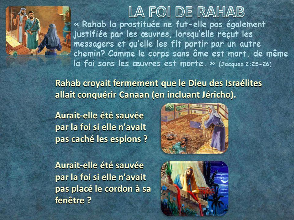 LA FOI DE RAHAB