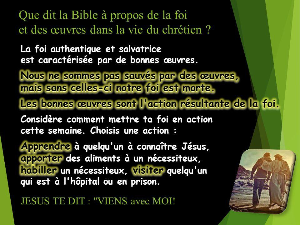 JESUS TE DIT : VIENS avec MOI!