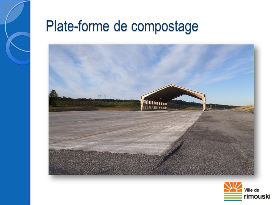 Plate-forme de compostage