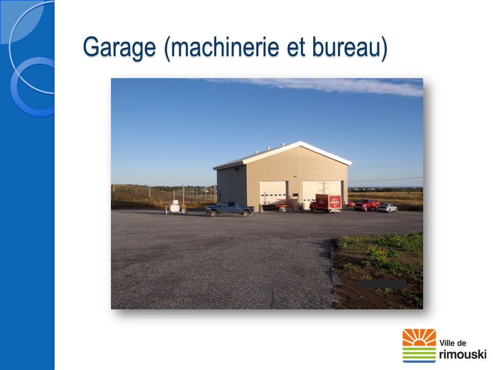 Garage (machinerie et bureau)