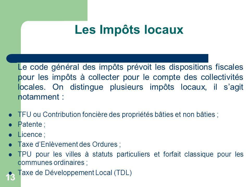 Les Impôts locaux
