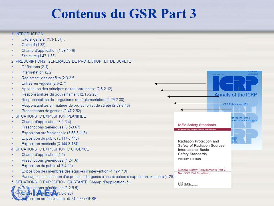 Contenus du GSR Part 3 MODIFIED 1. INTRODUCTION .