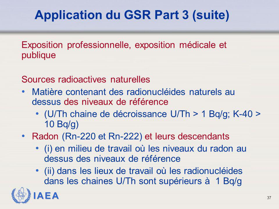 Application du GSR Part 3 (suite)