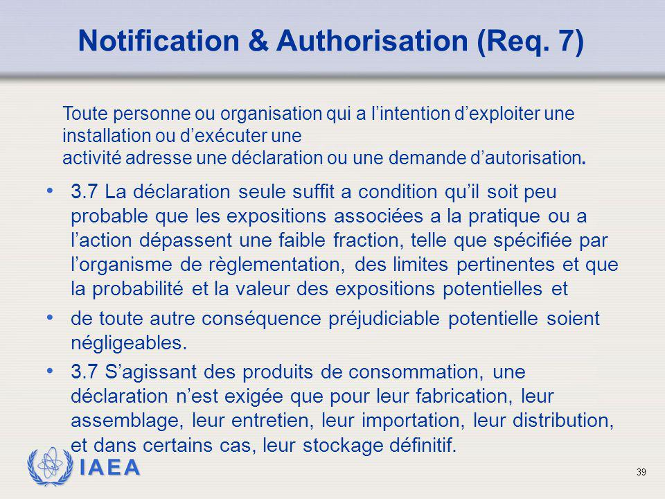 Notification & Authorisation (Req. 7)