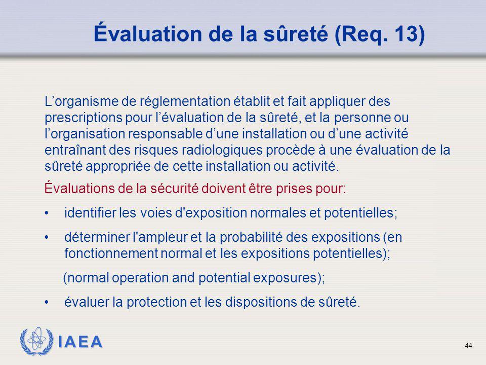 Évaluation de la sûreté (Req. 13)