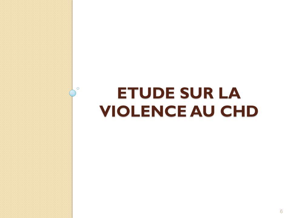 Etude sur la violence au CHD