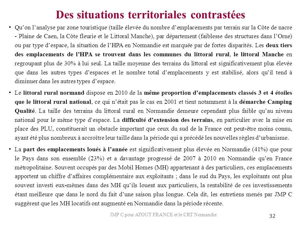 Des situations territoriales contrastées