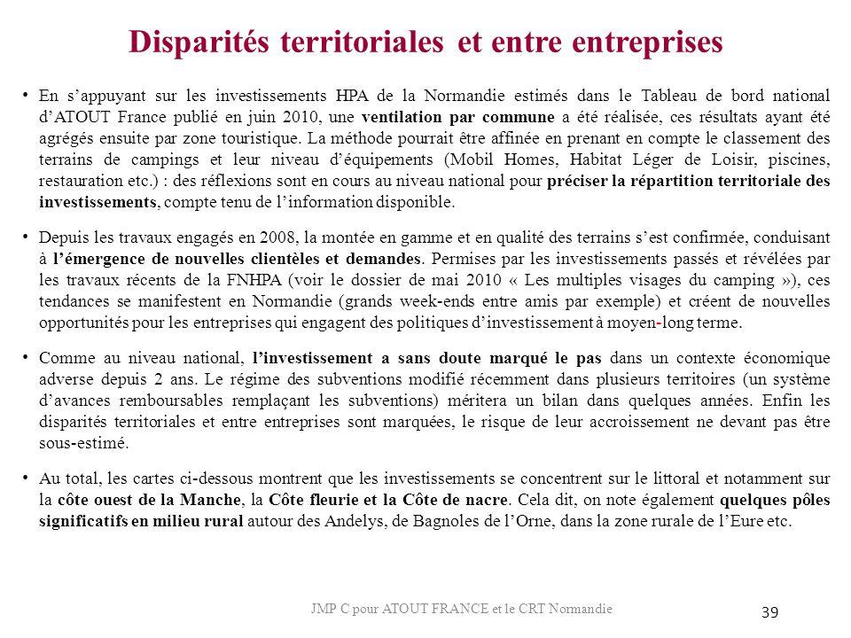 Disparités territoriales et entre entreprises