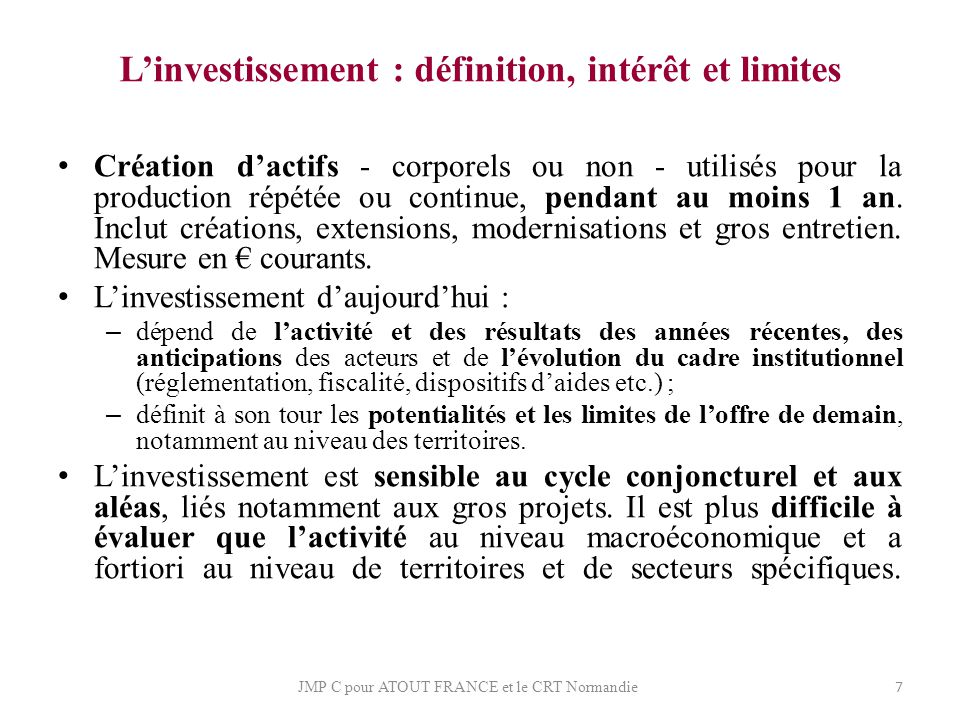 L'investissement : définition, intérêt et limites