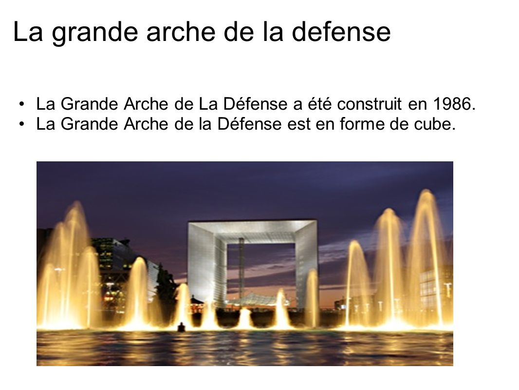 La grande arche de la defense