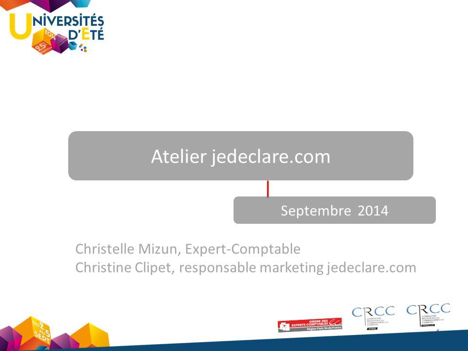 Atelier jedeclare.com Septembre 2014