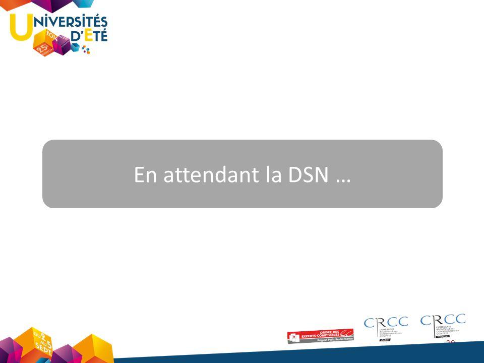 En attendant la DSN …