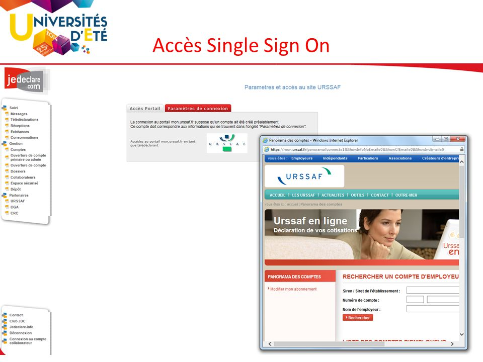 Accès Single Sign On